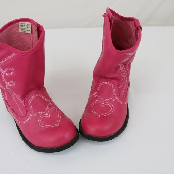 0024ba17c Healthtex Shoes | Sz 9 Little Girls Pink Cowboy Boots Easy | Poshmark